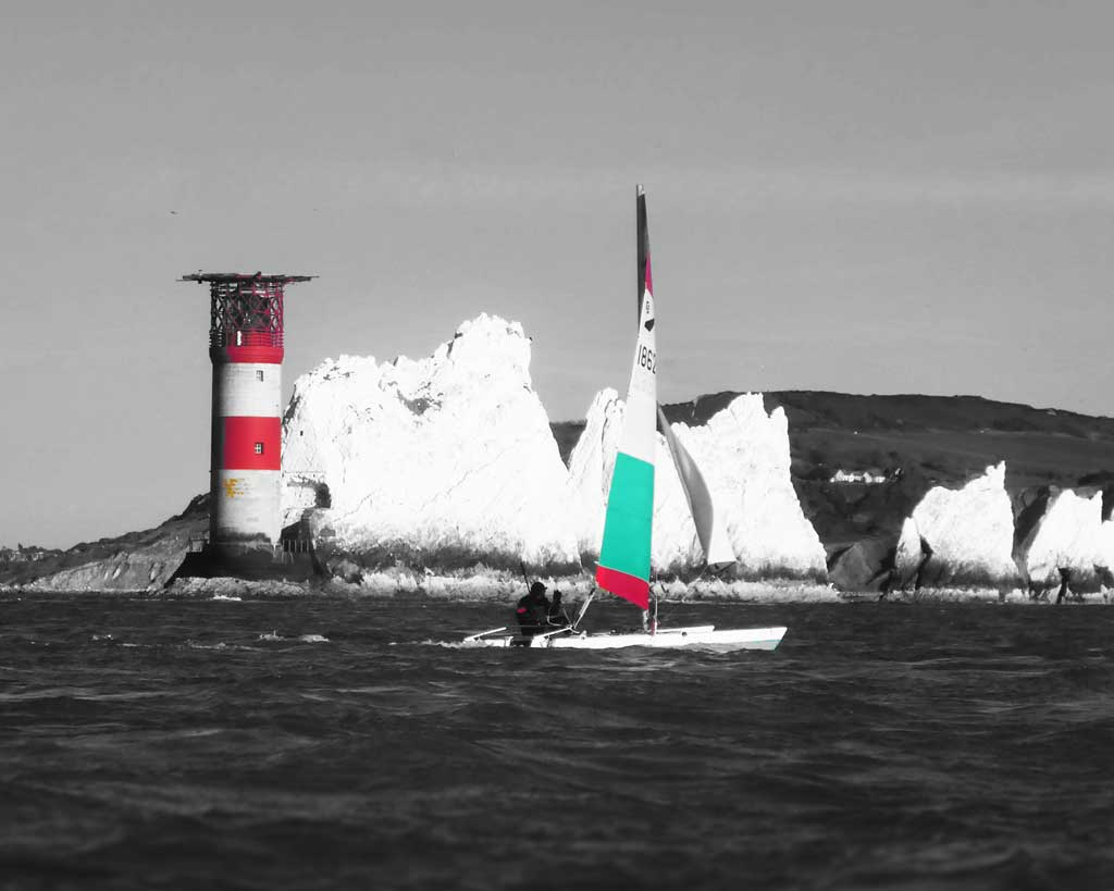 Sailing round the Needles